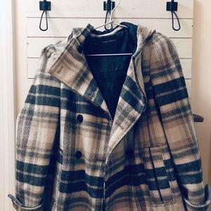 Zara Scandinavian Plaid Coat